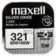 Батарейка часовая, оксид серебра MAXELL SR616SW M321