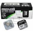 Батарейка часовая, оксид серебра MAXELL SR41SW M384