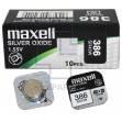 Батарейка часовая, оксид серебра MAXELL SR43W M386